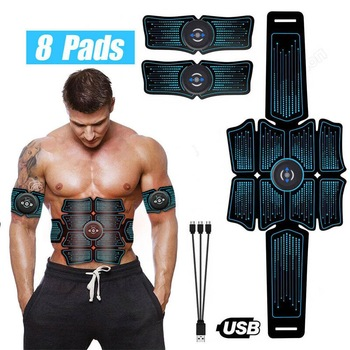 abdominal muscle stimulator trainer ems abs fitness equipment training gear muscles electrostimulator toner exercise at home gym EMS Abdominal Muscle Stimulator Trainer USB Connect Abs Fitness Equipment Training Gear Muscles Electrostimulator Toner Massage