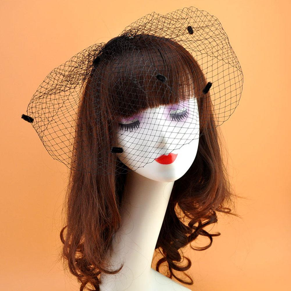 New White/Black Ivory Bridal Net Birdcage Veils Charming Wedding Veil Hats Halloween Hats Fascinator Face Veils