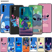 Webbedepp Cute Stitch Case for Huawei Nova 4E 5 5T P9 Lite Smart Pro Y6 Y7 2019 Prime Honor 8A 20S(China)