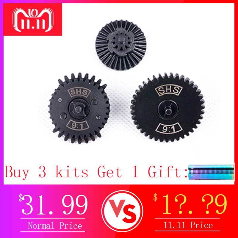 MODIKER 2019 New SHS / FB 9:1/ 13:1/16:1 High Speed Dual Sector Gear Set For FB / JM Gen.8 / JM Gen.9 Gearbox - Black