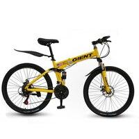 산악 자전거 자전거 21 속도 26 인치 더블 충격 흡수 이동 한 바퀴 성인 남성과 여성