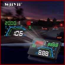 """جهاز عرض الزجاج الأمامي العالمي الجديد Q7 5.5 """"متعدد الألوان للسيارات موديل HUD ونظام تحديد المواقع وعداد السرعة الفائق السرعة"""