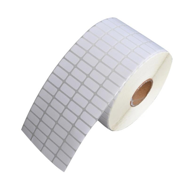 Sıcak satış 500 adet/rulo yapışkanlı termal etiket etiket kağıdı süpermarket fiyat boş etiket doğrudan baskı su geçirmez baskı malzemeleri