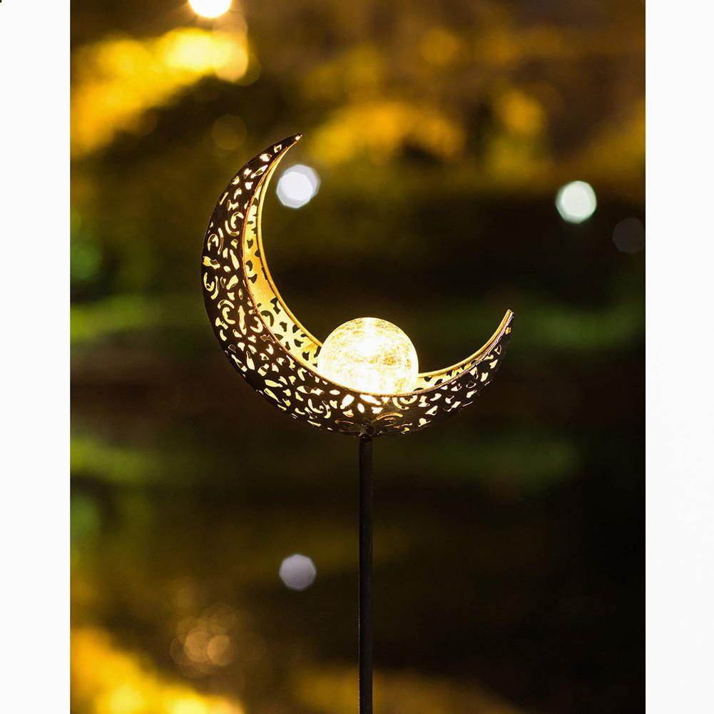 2019 New LED Waterproof Solar Powered Hollow Out Moon Outdoor Lawn Lamp For Landscape Garden Yard Decoration Beauty Tool