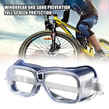 1PC okulary ochronne przezroczyste pyłoszczelne okulary Lab egzamin okulary Splash ochronne okulary przeciwwiatrowe gogle przeciwmgielne tanie i dobre opinie Jeden rozmiar Mężczyźni Kobiety Unisex Jasne
