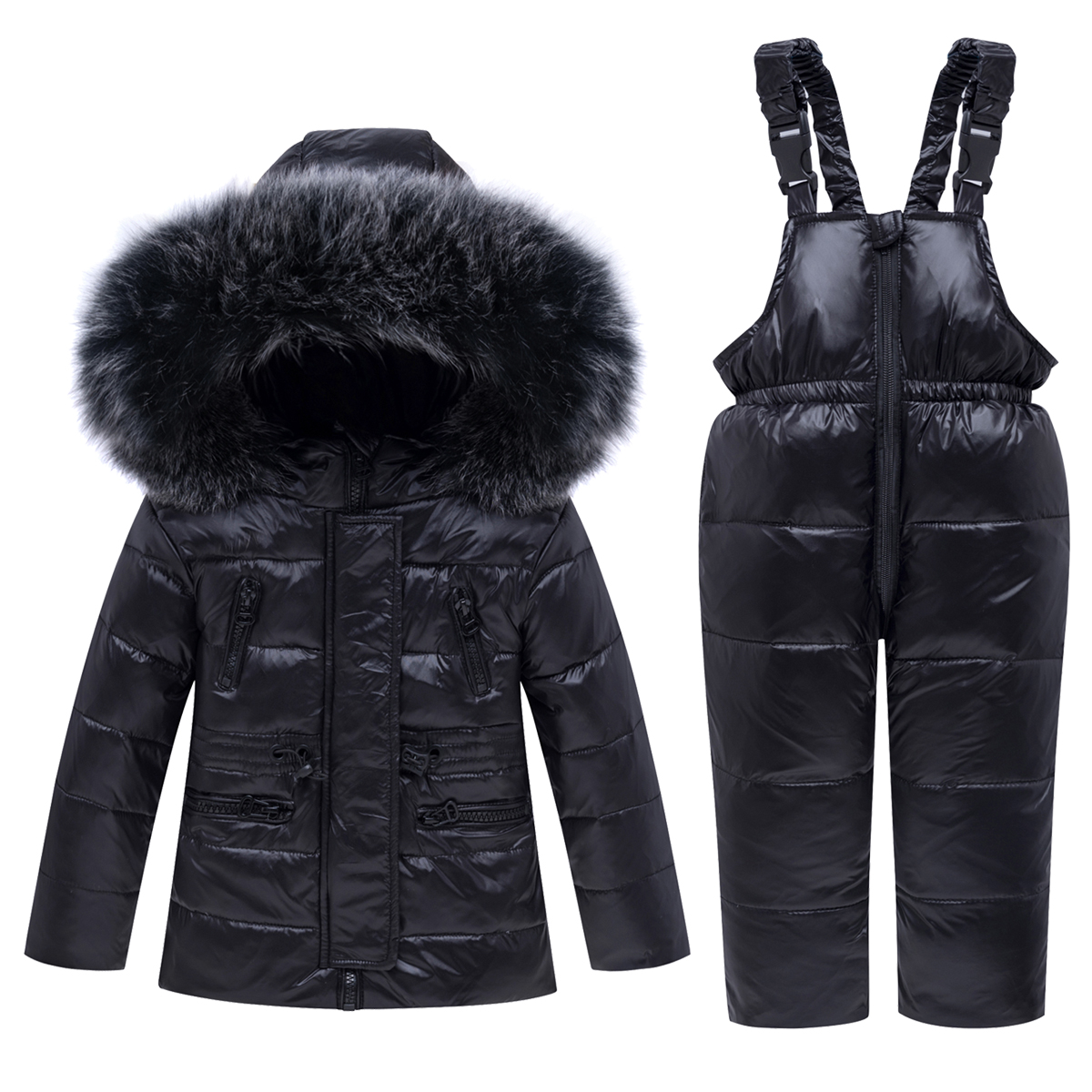 OLEKID  30 Degrees Kids Winter Jacket Fur Collar Down Jackat For Girl 1 5 Years Baby Boy Clothes Children Coat Overalls Snowsuit|Down & Parkas| |  - title=