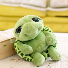 20 см супер зеленый большой глаза фаршированный черепаха черепаха животное плюш ребенок ребенок игрушка подарок