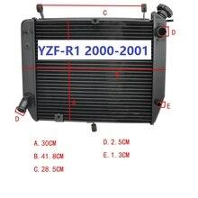 야마하 용 YZF R1 2000 2001 YZFR1 YZF R1 오토바이 라디에이터 모터 바이크 알루미늄 엔진 부품 교체 냉각 냉각기
