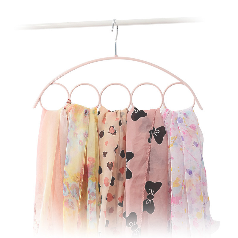 5 Hole Scarf Hangers Plastic Ring Organizers Neck Tie And Belt Receive A Case Link Display Racks