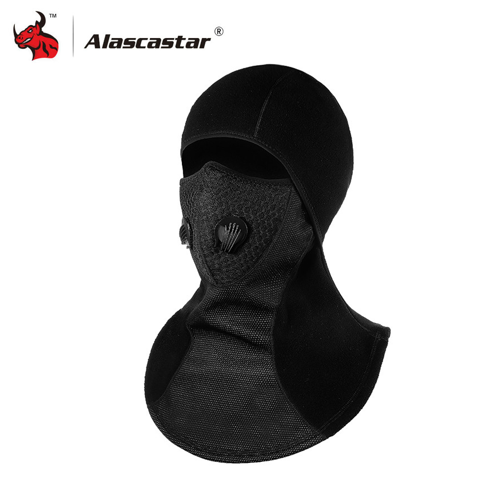 New Motorcycle Face Mask Balaclava Winter Thermal Fleece Face Shield Skull Face Mask Moto Ski Biker With Active Carbon Filters