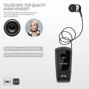 Image 4 - Fineblue F920 Draadloze Bluetooth Hals Clip Telescopische Business Oortelefoon Trilalarm Dragen Stereo Sport Headset Mic