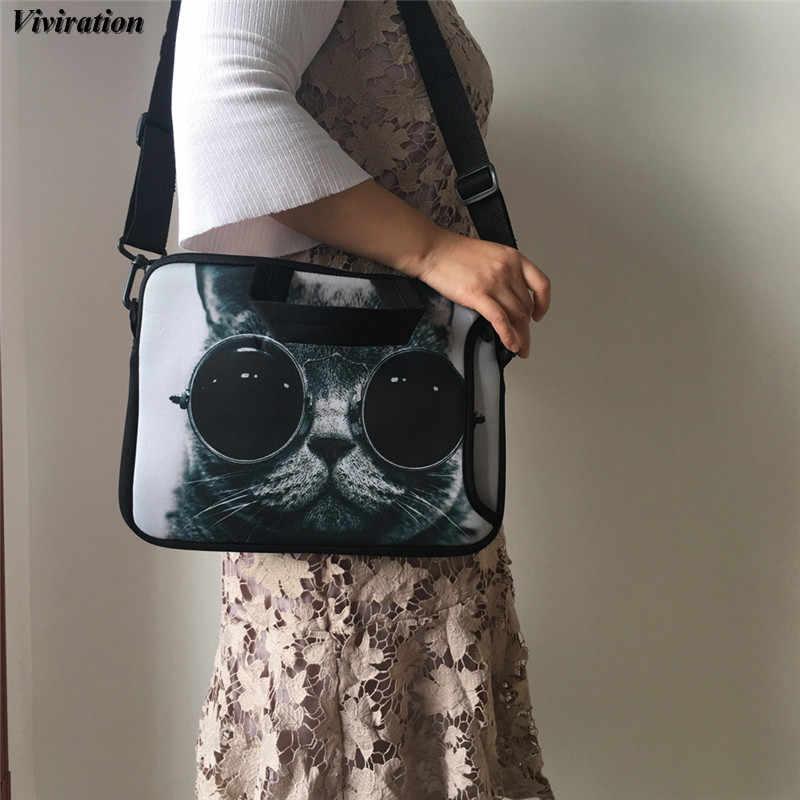 Женская сумка для ноутбука для девочек 14, 15, 13, 12, 10, 17, 17,3, чехол для ноутбука 15,6 с принтом кота, Капа для Funda Portail Bolsas, компьютерные аксессуары