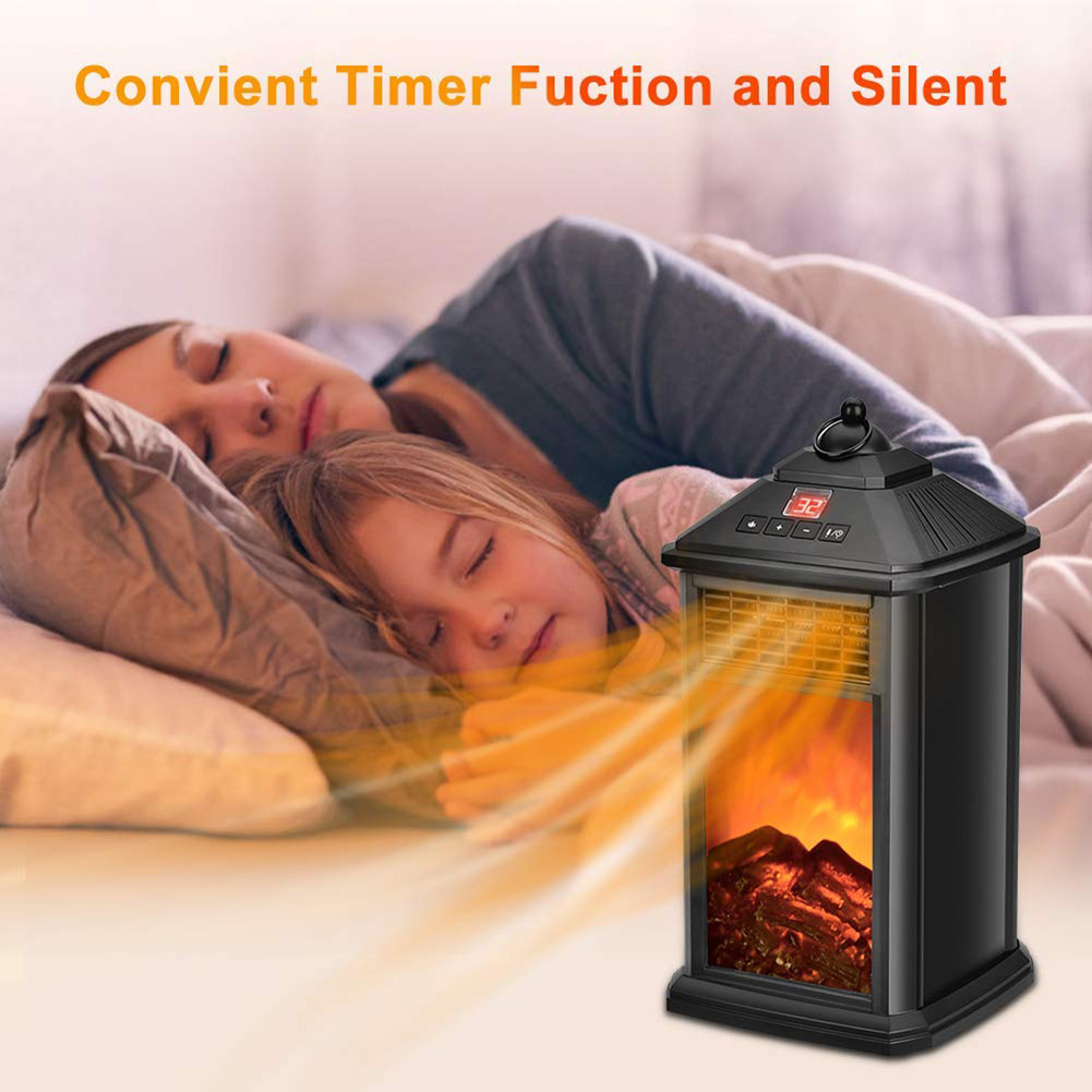 Portable Fireplace Electric Heater 800W With Adjustable Thermostat Overheat Protection OCT998