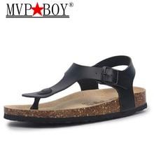 MVP BOY Women Shoes Cork Sandals Pregnant Woman Beach for Ladies Summer Non-Slip Cool Slides Plus size 35-43