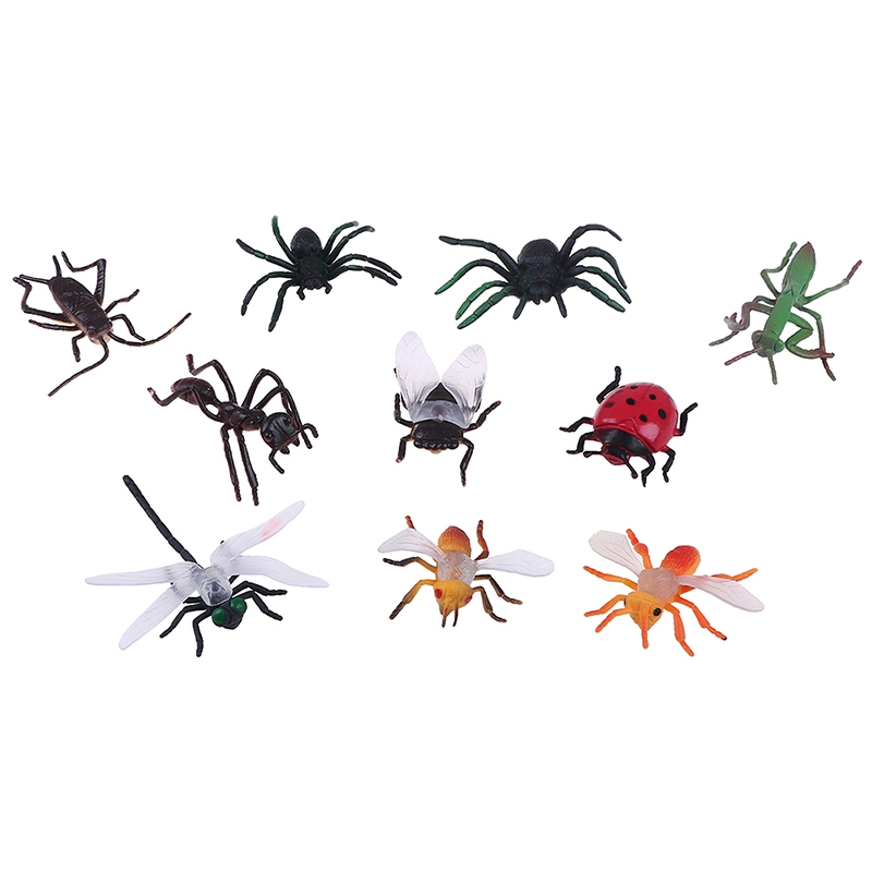 10Pcs Plastic Model Insect Toys Tricks Set Party Mini Animal Educational Play Toy Great Gift For Children