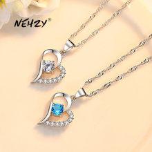 NEHZY – collier en argent sterling 925 pour femme, pendentif ajouré en forme de cœur et zircon cristal de haute qualité, longueur 45CM, nouvelle collection