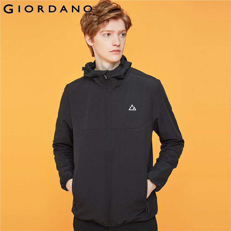 Giordano Men Jacket G-MOTION Graphic Hooded Jacket Men Zipper Fly Pocket Jaqueta Masculino Think Soft Casaco Masculino 01079009