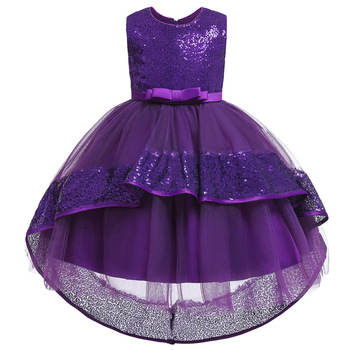 2020 girls dresses for party and wedding bow children's trailing dress sequin princess dress baby girl dress  CHD20122