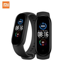 2020 Xiaomi Mi Band 5 inteligentna bransoletka 1 1 duży ekran AMOLED tętno Fitness Traker Bluetooth 5 0 Sport wodoodporny zespół 5 tanie tanio Wszystko kompatybilny SİLİCA Passometer Fitness tracker Uśpienia tracker Wiadomość przypomnienie Przypomnienie połączeń