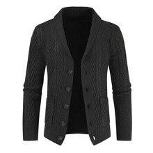 Новинка, зимний теплый свитер, кардиган для мужчин, брендовый, Повседневный, облегающий, мужской свитер с рогами, толстый, модный, на пуговицах, верхняя одежда, Прямая поставка