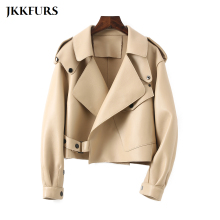 Jacket Sheepskin Bomber-Coat Women's Outerwear S7547 Lady New-Fashion 9-Colors