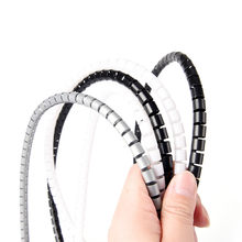 1M 8mm Wire Spiral Wrap Sleeving Band Tube Cable Protector Line Management(China)