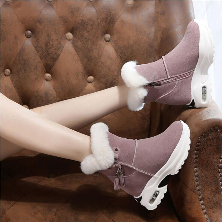 Image 4 - Snow Boots Women Shoes Woman Boots Winter Boots Ankle Boots Thick Increased 2019 Winter New Warm Comfortable Casual Boots X165-in Ankle Boots from Shoes