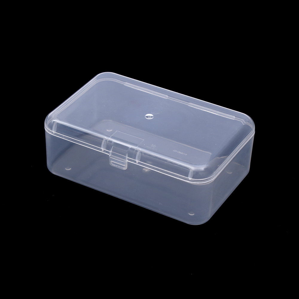 1X Transparent Plastic Storage Box Clear Square Multipurpose Display Case Top Container For Foods And Tool