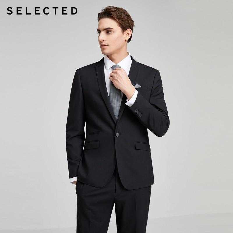 SELECTED Men's Slim Fit Pure Color Jacket Business Casual Blazer S 42015X512