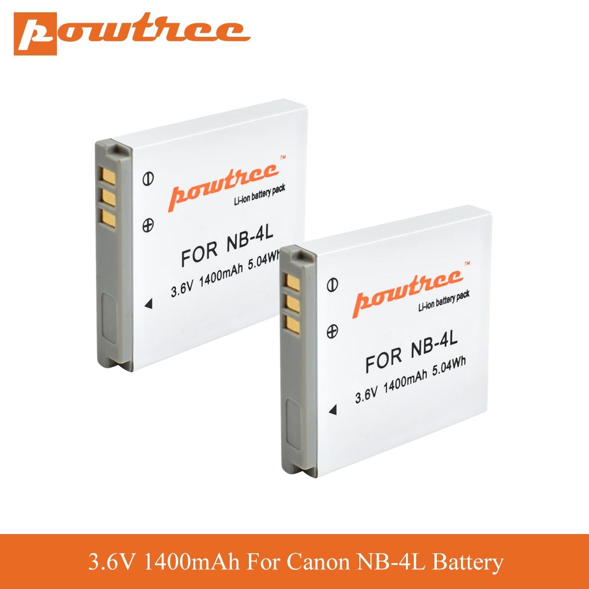 2 NB-4L Batteries Replacement 40 60 310 HS 50 70 i7 Zoom Digital ...