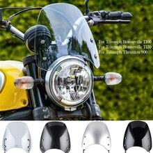 Windschutz Windschutz für Triumph Bonneville T100 T120 2015-2019 Thruxton 900 2003-2015 Scheinwerfer Verkleidung Deflektoren Street bike