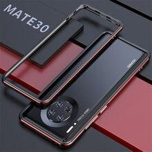 Voor Huawei mate 30 Case Metalen Frame Dubbele Kleur Aluminium Bumper Bescherm Cover voor Huawei mate 30 Case