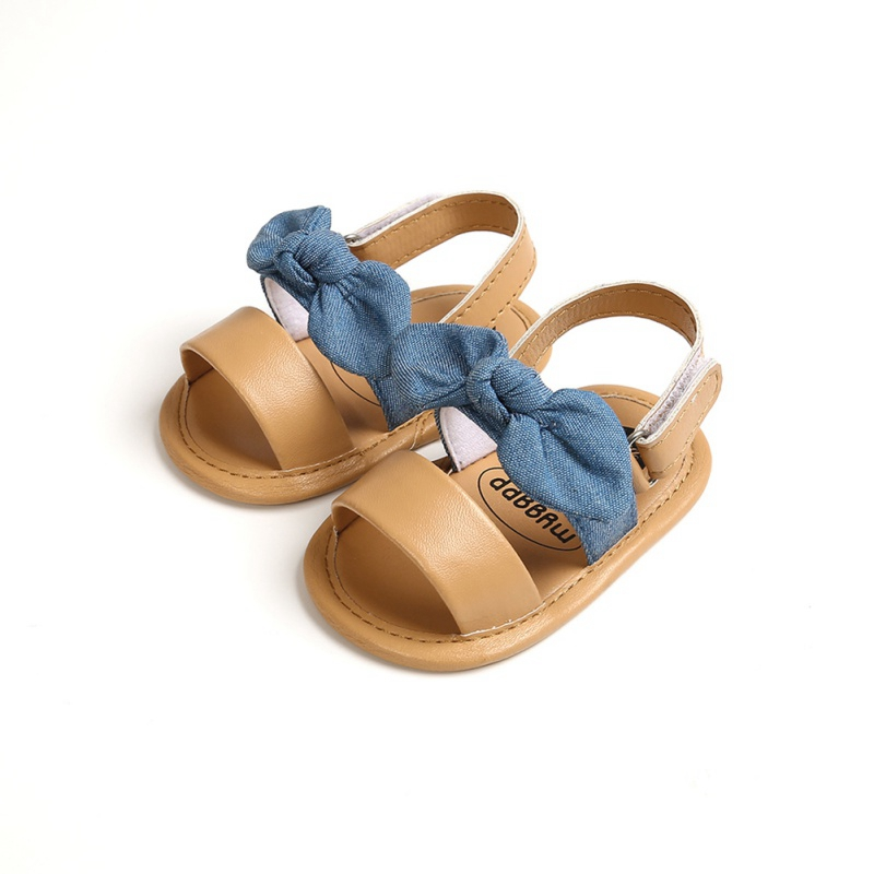 New Summer Baby Girls Cute Sandals Bow PU Leather First Walkers Soft Bottom Anti-Slip Shoes Girl Toddler Princess Shoe 0-18M