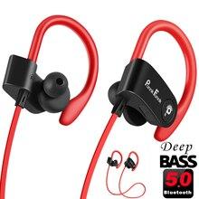 Auriculares inalámbricos con Bluetooth 5,0, dispositivo deportivo, resistente al agua, IPX4, con cancelación de ruido, estéreo de graves profundos y micrófono