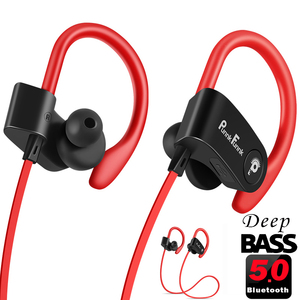 Image 1 - Bluetoothイヤホンワイヤレスヘッドフォンbluetooth 5.0 スポーツヘッドセット防水IPX4 ノイズ重低音ステレオイヤフォン/マイク
