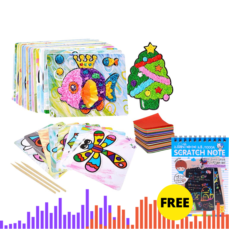 Child 3D DIY Hand Drawing Painting And Imagination Training Toy Stickers Painted Paper Toys Creativity Kit Perfect Kids Gift