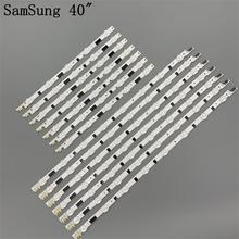 Tira de LED para samsung UE40F6400, D2GE 400SCA R3, D2GE 400SCB R3, 2013SVS40F, L8 R, 5 BN96 25520A, 25521A, 25304A, 25305A, 14 unidades