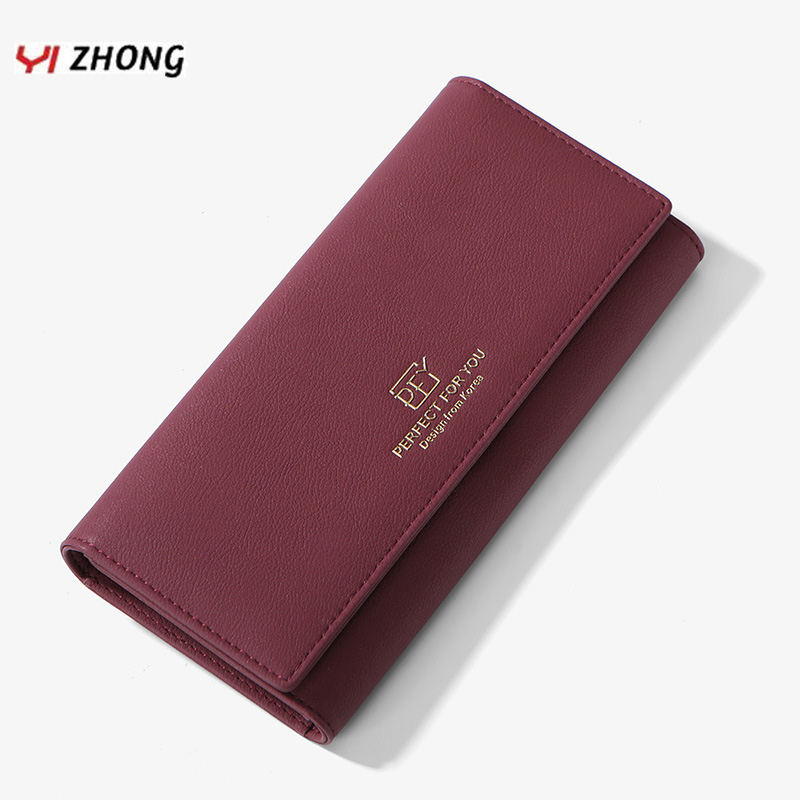 YIZHONG Long Leather Luxury Wallets And Purses For Women Multi-function Hand Bag Clutch Wallet Cell Phone Card Holders Carteras