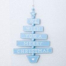 Рождественская елка, подвесные украшения, украшения для дома, деревянная лоза, деревянный знак, подвеска, мы желаем вам счастливого Рождества, с принтом F820