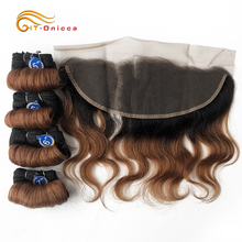 Brazilian Hair Weave Bundles With Frontal Human Hair Bundles Body Wave Bundles With Lace Frontal 5pcs/lot Remy Hair Extensions 7a grade brazilian virgin hair extensions body wave no shedding brazilian human hair weave bundles 3pcs lot free shippng