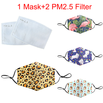 Funny Animal Print Face Mask Bacteria Mouth-Muffle Masks Reusable Protective PM 2.5 Filter Anti Face Mask Dust Proof Flu Mask