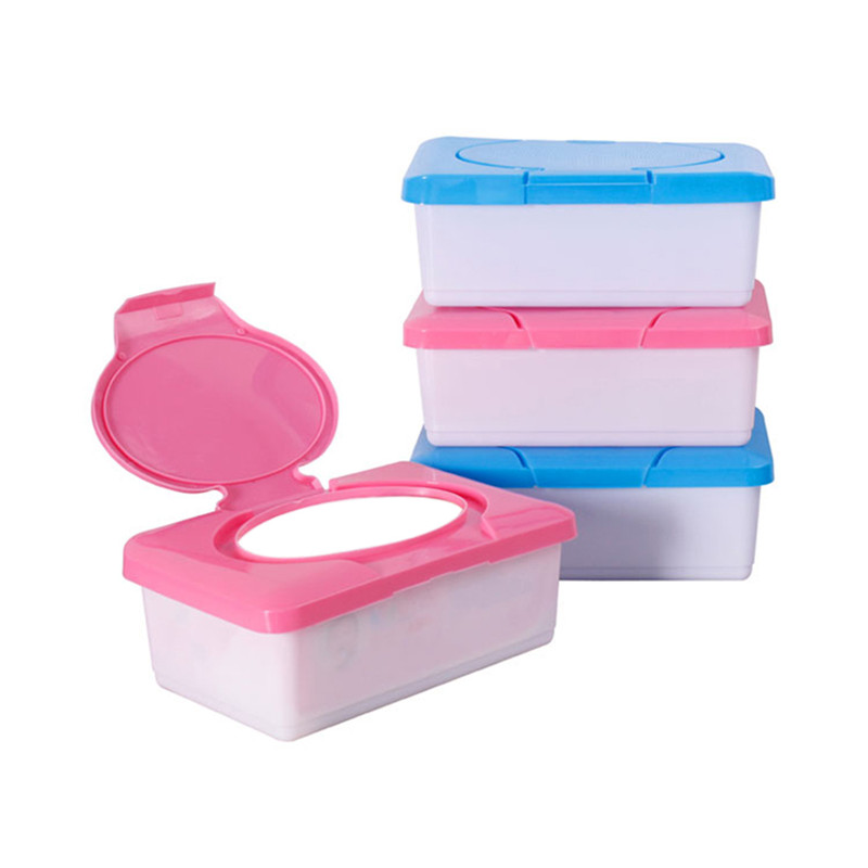 Baby Dry Wet Tissue Paper Box Plastic Case Real Tissue Case Baby Wipes Press Pop-up Design Home Tissue Holder Accessories