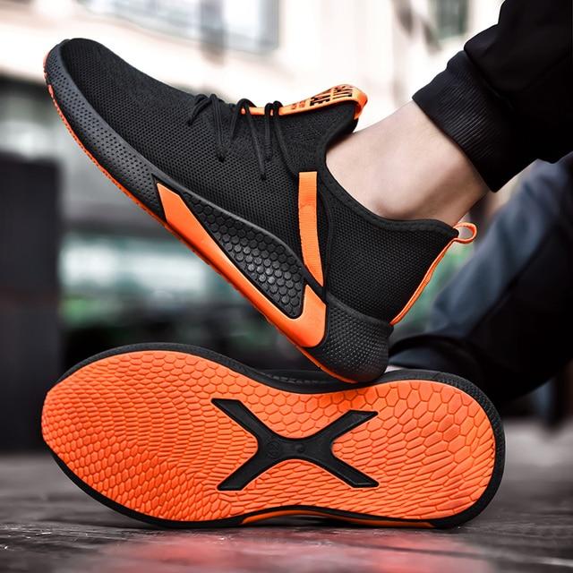 Zapatillas de estilo harajuku para hombre, zapatos baratos masculinos, informales, transpirables, con cordón, de buena calidad, marca de lujo, novedad de 2020 4
