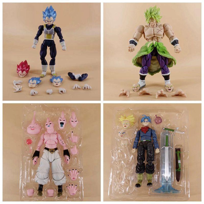 15cm Dragon Ball Vegeta Super Saiyan Broli Buu Uub Trunks Action Figure Toys Doll Christmas Gift With Box