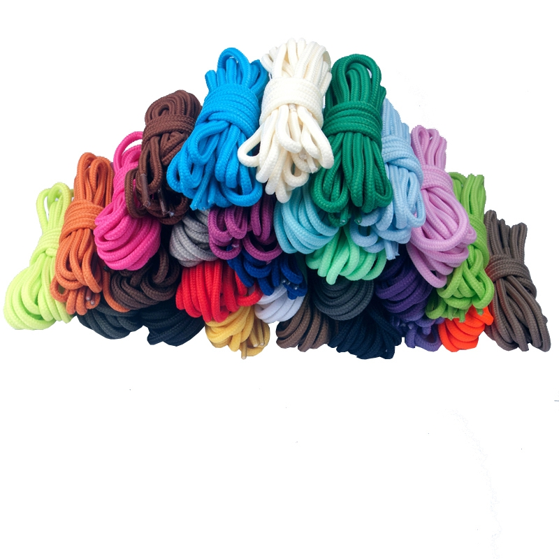 100cm-160cm Long of Round Shoelaces Shoe Strings Shoe Laces Cord Ropes for Boots Sneakers