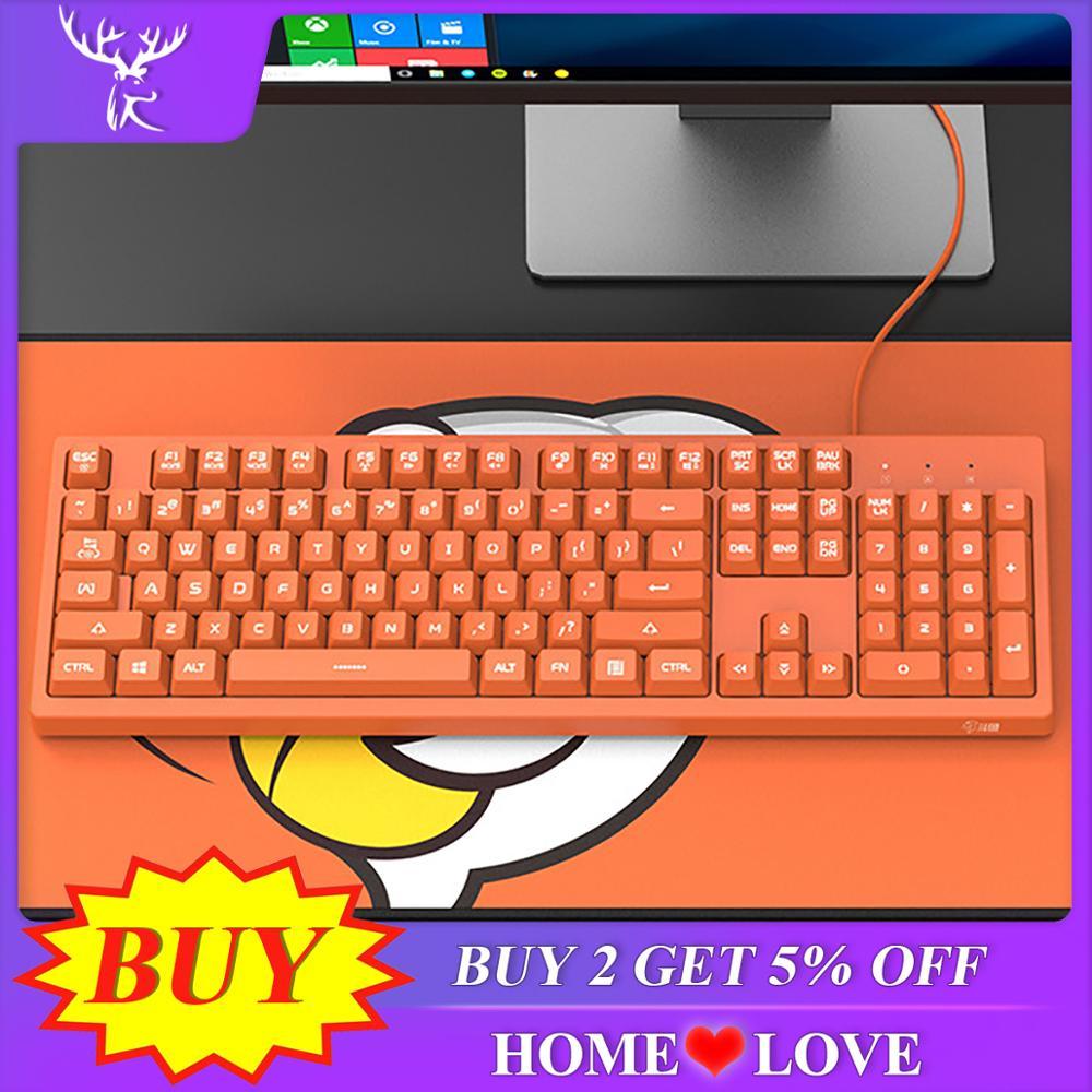 IBen USB Membrane Keyboard 104 Keys Pink Keyboard Gaming Keyboards For PC Desktop