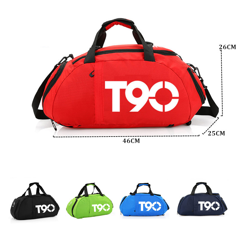 Image 3 - 2019 New T90 Men Sport Gym Bag Women Outdoor Gym Fitness Bags Separate Space for Shoes Pouch Rucksack Hide BackpackGym Bags   -