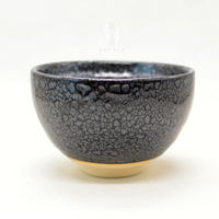 Ceramic Japanese tea ceremony teaware black glaze matcha bowl tea set tea cup handmade  fine powder teacup