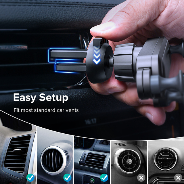 Gravity Car Holder For Phone in Car Air Vent Clip Mount No Magnetic Mobile Phone Holder GPS Stand For iPhone XS MAX Xiaomi 1