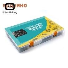 Robotlinking en komple başlangıç kiti öğretici UNO bileşen Arduino için (63 ürün)